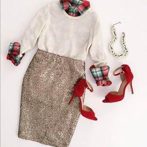 Dresses & Skirts - •LAST TWO• Bronze Sequin Midi Skirt