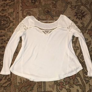 free people white long sleeve
