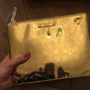 Kate Spade Large Gold Pouch
