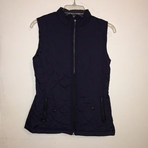 Navy blue fall vest