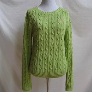 Lilly Pulitzer Lime Green Cable Knit Sweater