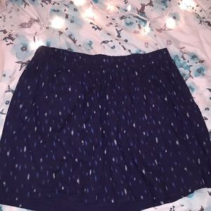 Small old navy blue spotted skirt