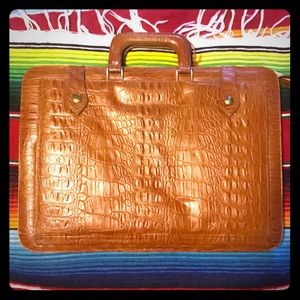 Vintage tortoise shell super chic briefcase ladies