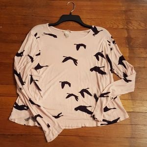 Flying geese print top