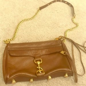Rebecca Minkoff brown leather cross body bag