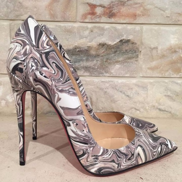 new products 0dfbe 188aa Christian Louboutin So Kate 120 Black Marble Boutique