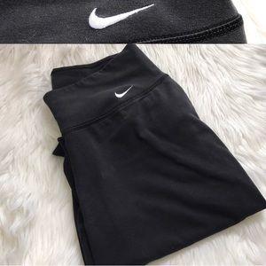Black Nike Stitch Yoga Pants Flare Medium