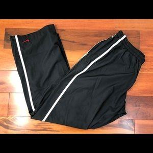 Nike Womens Wind Pants Warm Ups Black Wind Breaker
