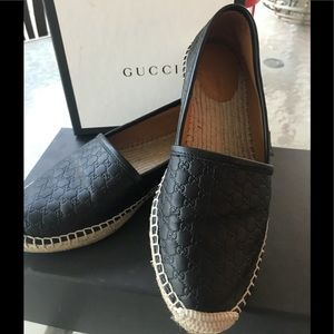 Gucci Black Signature GG Espadrilles