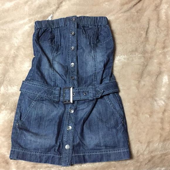 d1bd90d5408 guess Dresses   Skirts - Guess denim tube top dress size S
