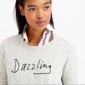 J. Crew • Dazzling Gray Beaded Sweater Pullover