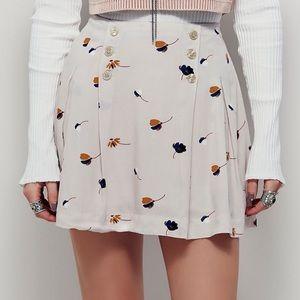 ✨ Free People Lover's Lane Solid Navy Mini Skirt ✨