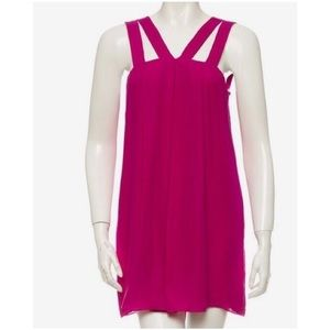 Alice & Olivia Double Strap Silk Dress