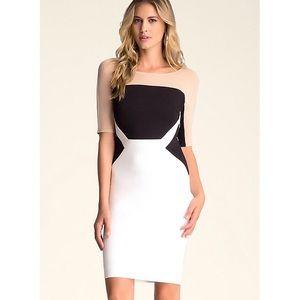Bebe Colorblock Midi Dress