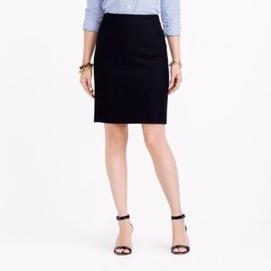 J Crew Factory pencil skirt in double-serge wool