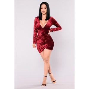FASHIONNOVA RIYA CRUSHED VELVET DRESS