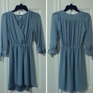 H&M High-Low Dress Blue/Grey Size 2