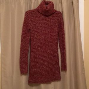 Red sweater dress size small