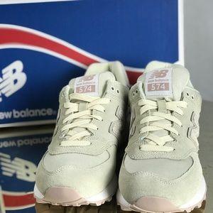 Women's New Balance Cream and Pink Sneakers. NIB