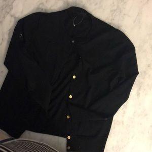 Jcrew 100 merino wool black cardigan size M