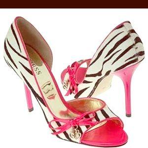 Hot pink and Zebra heels
