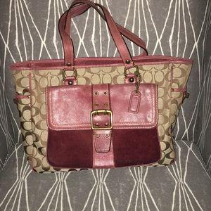 Coach bag. Brown and burgundy
