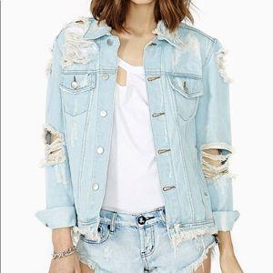UNIF Outsider Shredded Denim Jacket