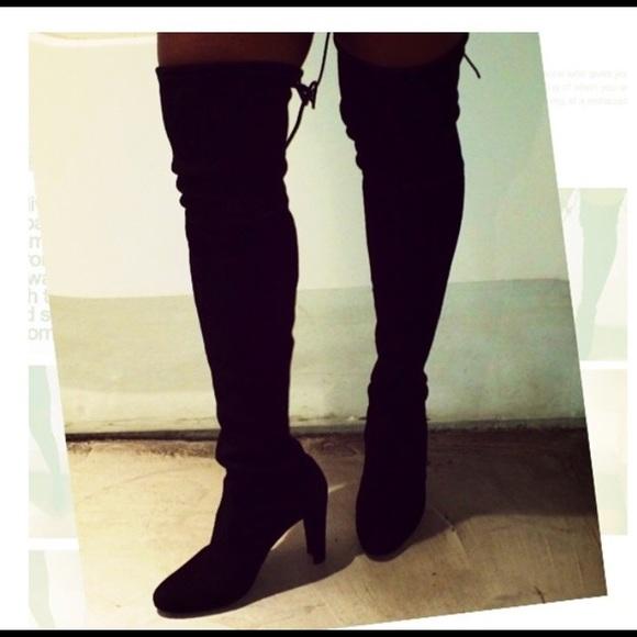 2681943ad86 Stuart Weitzman Shoes - Stuart Weitzman over the knee Highland Black 8.0m