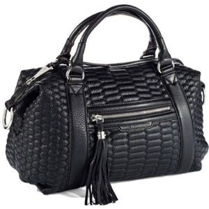 Aimee Kestenberg leather quilted satchel Caleb