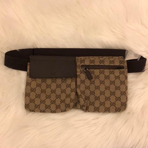 b30ffc3869521 Gucci Handbags - Gucci Waist Bag GG Canvas Brown