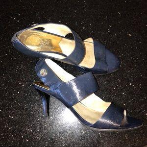 Michael Kors Navy Blue 2 Strap Heels