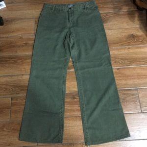 JJill military green pants