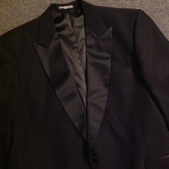 Vintage Peak Satin Lapel Tuxedo Jacket 48 50
