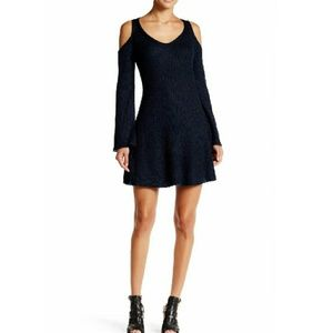 Winter ready! Long Sleeve Knit Dress with Cutouts