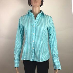 Michael Michael Kors dress shirt blue striped sz 6