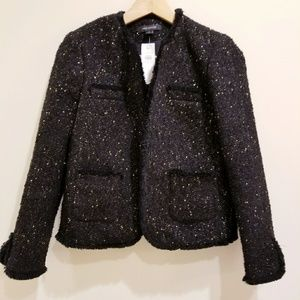 Ann Taylor Black Tweed with Gold Sparkles 0
