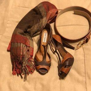 Ate Madden brown heels.