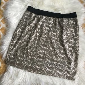 gold sequins old navy skirt size M