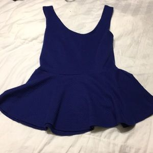 Forever 21 cute blue tank top