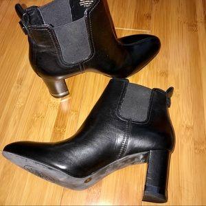 Tory Burch Black April Vegan Leather Boots