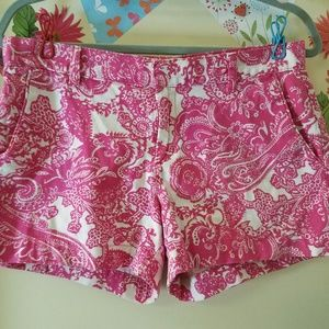 joe FRESH Paisley Zip Up Shorts 4 EUC