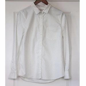 """J.CREW Polka Dot Button Down """"Boy"""" Shirt Size 10"""