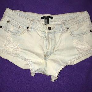 Light blue Forever 21 short shorts