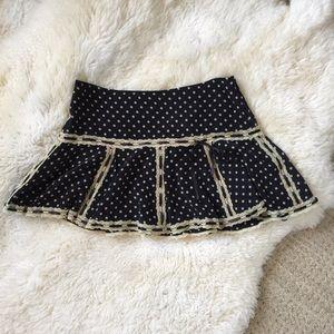 Betsey Johnson Silk Skirt Polkadots Size 10