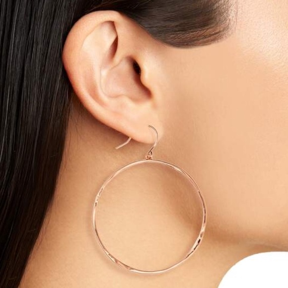 Gorjana G Ring Hoop Drop Earrings, Gold