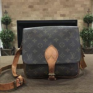 Authentic Louis Vuitton Cartouchiere Messenger Bag