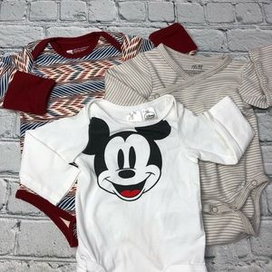 H&M + Pact Mickey Mouse Onesie Bundle
