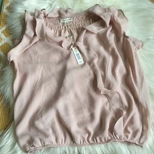 NWT blush pink max studio top size S