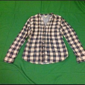 Converse One Star plaid blouse