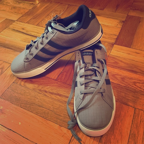 347e103d52e2 Men s adidas new daily vulc - gray and baby blue